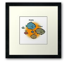helicopter fishes are coming! Framed Print