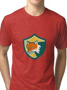 Red Fox Angry Head Shield Retro Tri-blend T-Shirt