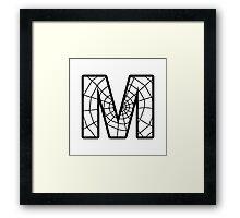 Spiderman M letter Framed Print