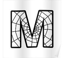 Spiderman M letter Poster