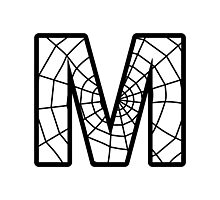Spiderman M letter Photographic Print