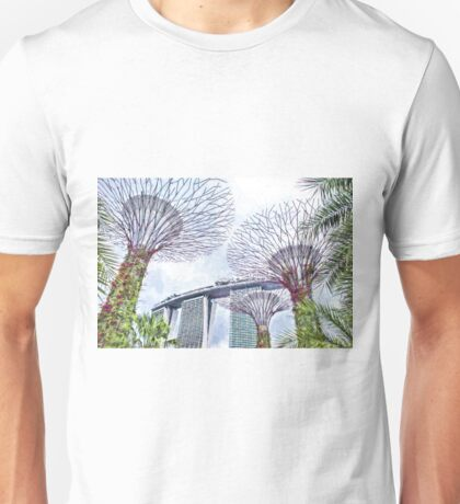 Supertrees, Gardens by the Bay Singapore (no country name) Unisex T-Shirt