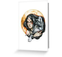 - Wolf Moon - Greeting Card