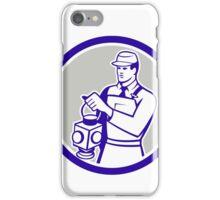 Train Railway Signaller Lamp Circle Retro iPhone Case/Skin