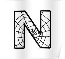 Spiderman N letter Poster