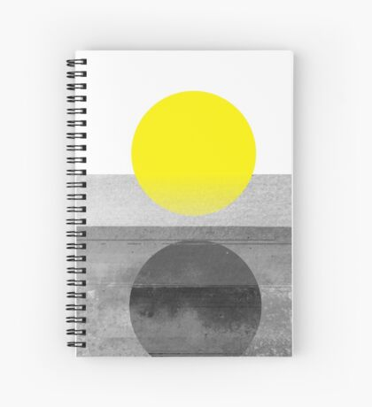 Yellow #abstract  Spiral Notebook