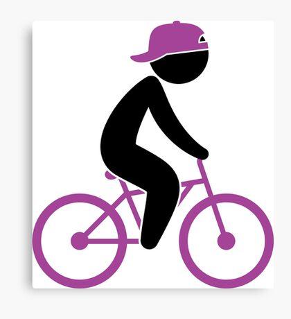 Biker Cyclist 1 (dd)++2013 Canvas Print