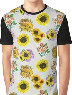 Flowers and leaves pattern Graphic T-Shirt