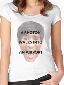 A Photon Walks Into An Airport Women's Fitted Scoop T-Shirt
