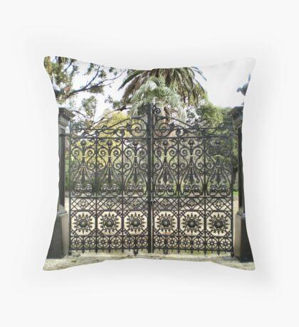 Beautiful Gates - Williamstown Botanical Gardens Throw Pillow