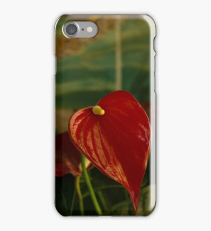 Exotic Tropical Dream Garden - Hot Red Hearts and Sea Creatures iPhone Case/Skin