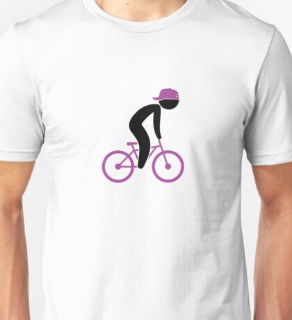 A cyclist doing tricks on his bike Unisex T-Shirt