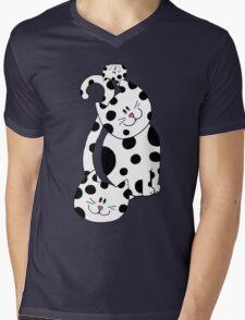 Cool Cats Mens V-Neck T-Shirt