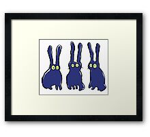 3 bunnies Framed Print