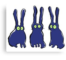 3 bunnies Canvas Print