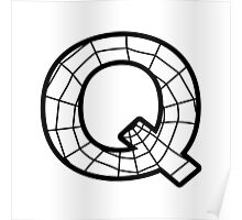 Spiderman Q letter Poster
