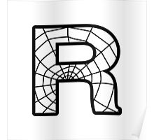 Spiderman R letter Poster
