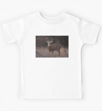 White-tailed deer buck with huge neck in autumn rut Kids Tee