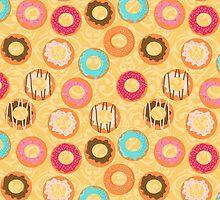 Cute donuts with colorful glazing by alenarozova