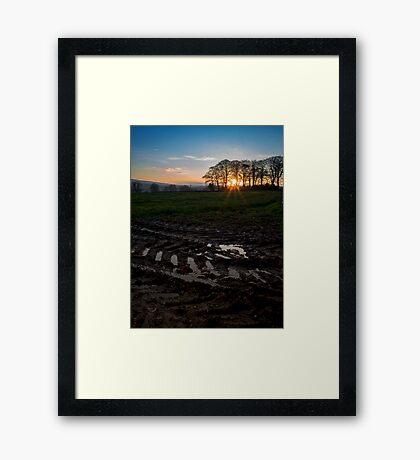 Boncath Sunset Framed Print