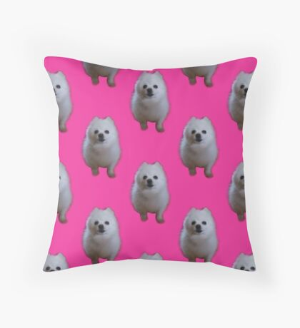Gabe the Dog - Pink Throw Pillow