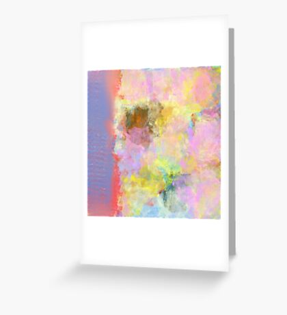 Floral Print in Abstract and Pastel Colors Greeting Card