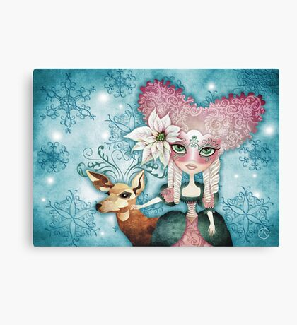 Noelle's Winter Magic Canvas Print
