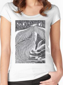 Girl dressed as a bird II Women's Fitted Scoop T-Shirt