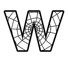Spiderman W letter Photographic Print