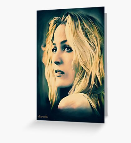Gillian Anderson in oil colors Greeting Card