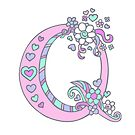 Letter Q monogram decorative typographic drawing by Sarah Trett