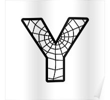 Spiderman Y letter Poster