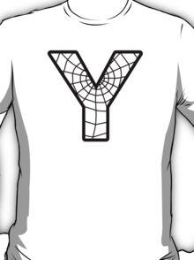 Spiderman Y letter T-Shirt