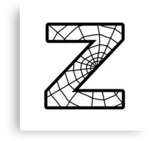 Spiderman Z letter Canvas Print