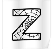 Spiderman Z letter Poster