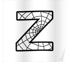Spiderman Z letter Poster