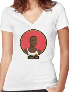 Steve Smith - Atlanta Hawks Women's Fitted V-Neck T-Shirt
