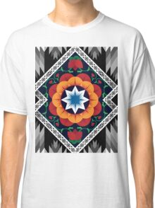 Sweet Flowers Pattern Background Colours Classic T-Shirt