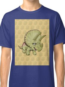 Cute Triceratops with pattern Classic T-Shirt