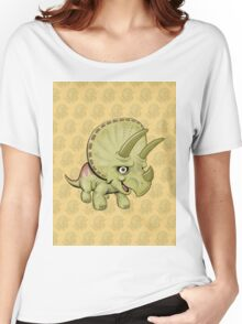 Triceratops Yellow Women's Relaxed Fit T-Shirt