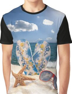 Summer Beach Vacation Graphic T-Shirt