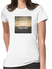 Something in The Sea  Womens Fitted T-Shirt