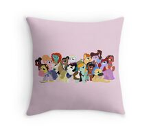 My Little Disney Princesses Throw Pillow