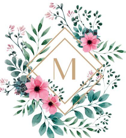 Watercolor M Sticker