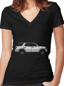 2003 Toyota Sequoia SR5  Women's Fitted V-Neck T-Shirt