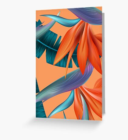 Sweet Flowers Pattern Background Colours Greeting Card