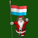 Santa Claus With Ensign Of Luxembourg by Mythos57