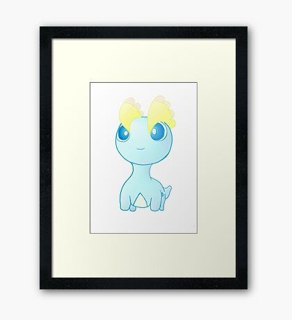 Pokemon Amaura pokedoll chibi design Framed Print