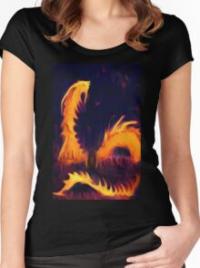Fire Dragon serpent mythical Fantasy  Women's Fitted Scoop T-Shirt