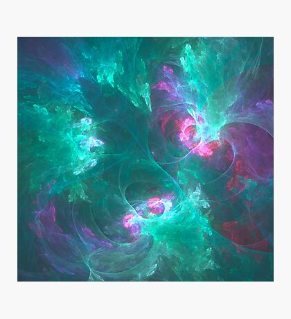 Abstract fractal in a cold palette Photographic Print